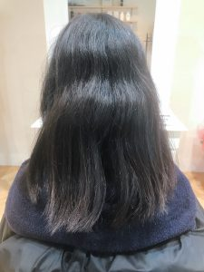 縮毛矯正+髪質改善ヘアエステ