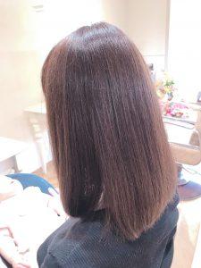 透明感のあるカラー+髪質改善ヘアエステ