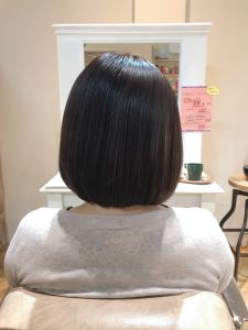 髪質改善メニューを続けると、、、。